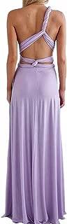 Women's Backless Gown Dress Multi-Way Wrap Halter Cocktail Dress Bandage Bridesmaid Long Dress