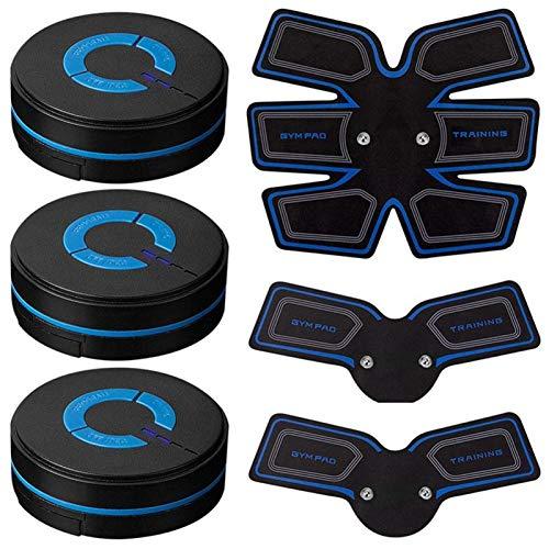 YDL Estimulador De ABS Tóner Muscular Músculo Abdominal Dispositivo De Entrenamiento Batería Desarrollado para Entrenamiento De Fitness (Color : A Set)