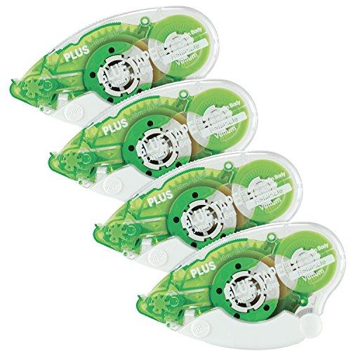 Plus Corporation Glue Tape TG-610BC-VE - Vellum Adhesive, 4-Pack (60388)