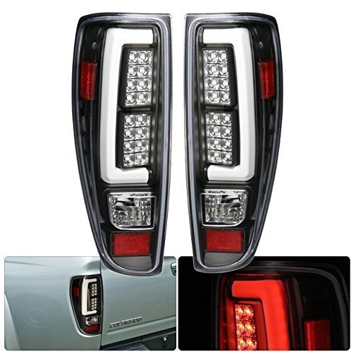 Tube Style Led Tail Lights Brake Stop Lamps Pair For Chevy Colorado GMC Canyon (Black