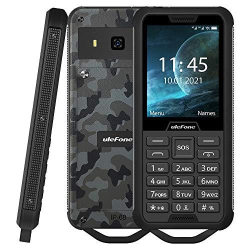 Ulefone Armor Mini 2 Móvil Resistente, Dual SIM gsm Teléfono Teclado Clásico, IP68 Impermeable Antigolpes A Prueba de Polvo, SOS, Cámara 0.3MP,2100mAh Batería Extraíble (19 Días En Espera) FM Verde