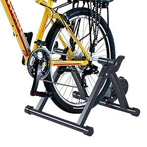 HOMCOM Rodillo de Entrenamiento Magnético para Bicicleta Cicloentrenador Plegable 54,5x47,2x39,1cm Negro