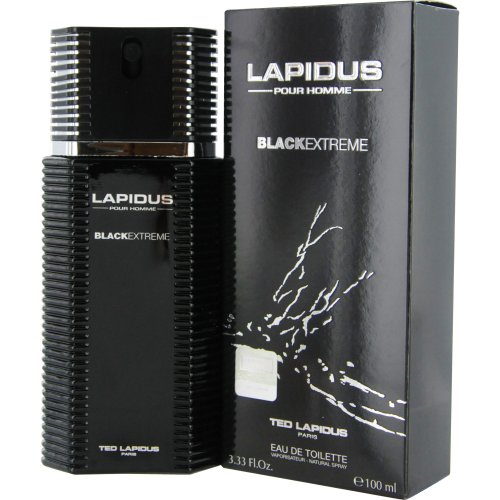 Ted Lapidus Lapidus Pour Homme Black Extreme Eau de Toilette Spray for Men, 3.4 Ounce