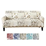 Best Couch Protectors - Great Bay Home Patchwork Scalloped Printed Furniture Protector Review