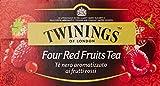 Twinings - Te' Nero Aromatizzato ai Frutti Rossi, 25 Bustine - 50 g...