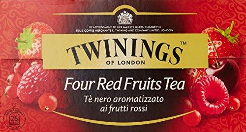 Twinings Te' Nero Aromatizzato ai Frutti Rossi, 25 Bustine, 50g