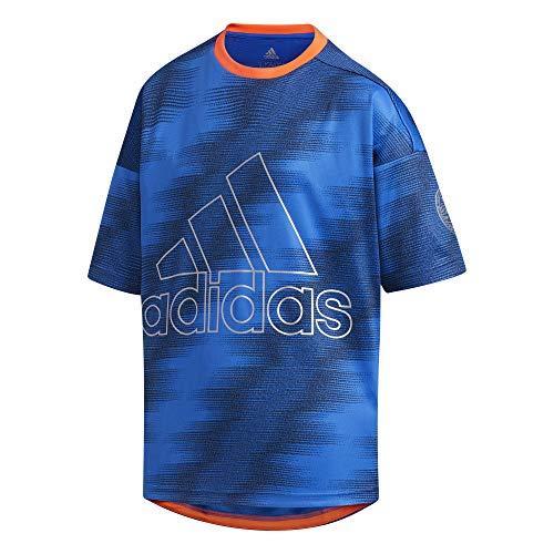 adidas Kinder T-shirt-FM2893 T-Shirt, Blue, 152