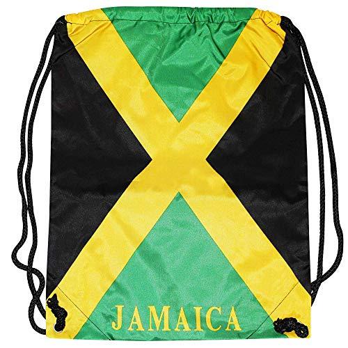 Jamaica Turnbeutel Fahne mit Schulterriemen für Fitnessstudio, Schule oder Arbeit