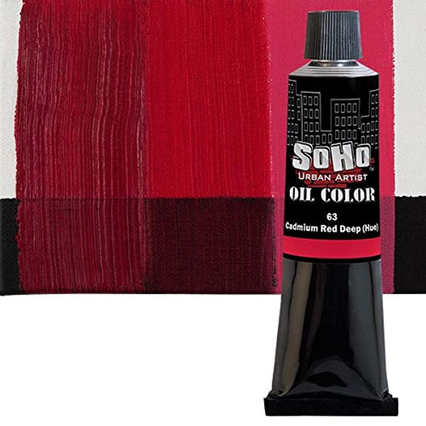 SoHo Urban Artist Oil Color - 170 ml Tube - Cadmium Red Deep Hue