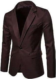 Men's Blazer Lightweight Casual Solid One Button Slim Fit Sport Coat