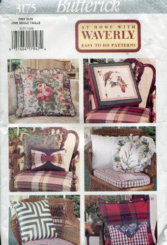 Butterick Pattern 3175 ~ At Home with Waverly Easy To Do Pillows