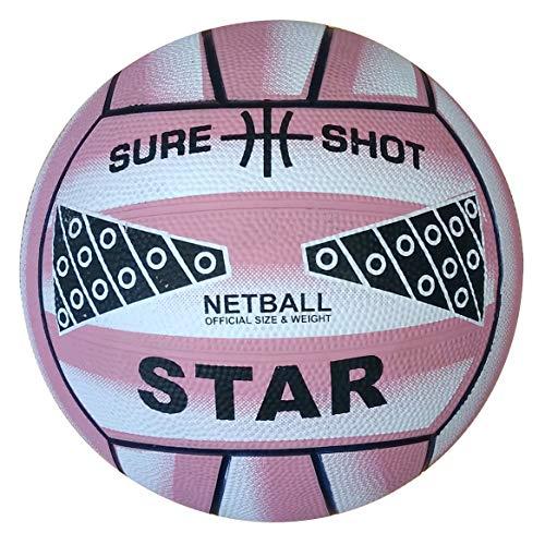 Sure Shot - Balón de Netball, Color Rosa Rosa Rosa Talla:4