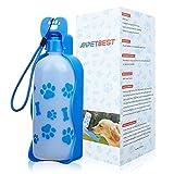 Anpetbest - Bottiglia portatile per cani con ciotola pieghevole incorporat, in plastica