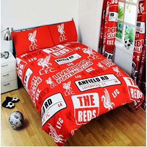 Liverpool Patch Single Duvet Cover (Duvet 135cm x 200cm) (1 x Pillow Case 50cm x 75cm) - One Size