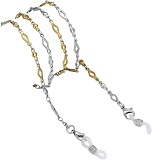 Crimmy Stainless Steel Eyeglass Chain and Cords, Reading Glass Lanyard for Women, Sunglass Strap Holder