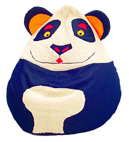 Theraline 77041800 Kegelsitzsack im Tierdesign Panda groß, circa 220 Liter