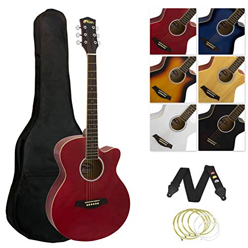 Tiger ACG3 Full Size Acoustic Guitar Package – Beginners Guitar Pack with...