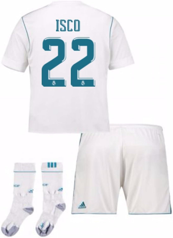 UKSoccershop 2017-17 Real Madrid Home Full Kit (Isco 22)