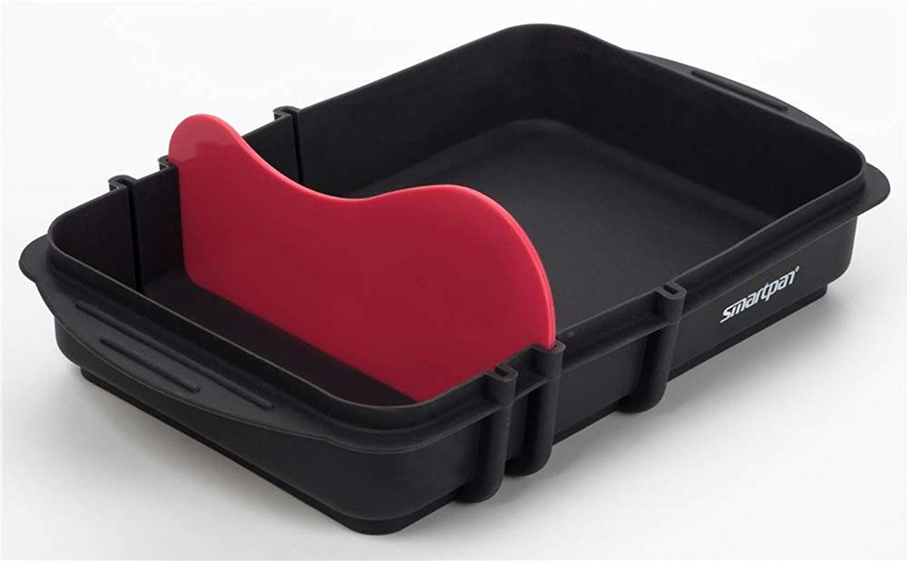 SMARTPAN Silicone Baking Pan 4 Size Tray BPA Free Professional Non Stick Tray Great For Two Dish Simultanious Baking And Cooking Dishwasher Safe Easy To Store Perfect For Every Kitchen
