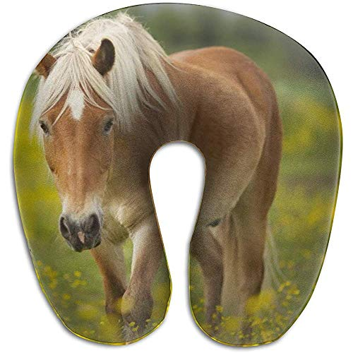 Simone-Shop Mooi paard bruin U-vorm nekkussen nekkussen nekkussen nekkussen zacht nekkussen nekkussen U-vorm 29 x 30 x 10 cm