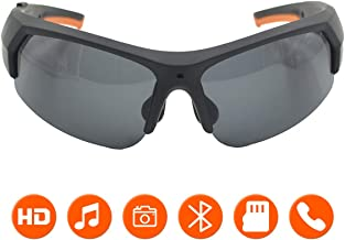 KAMRE Bluetooth Sunglasses Camera, 1080P Video Recorder Glasses Camera with UV Protection..