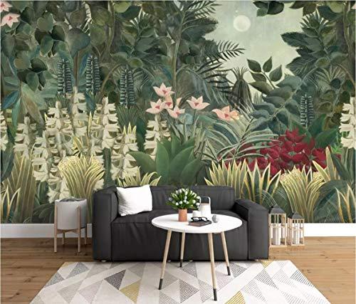 Papel Pintado 3D Fondo Nórdico De Vegetación Tropical Fotomurales 3D TV Fondo Pared Murales Papel Tapiz Moderno