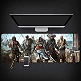 Tappetino Mouse Gaming Grande Gaming Mouse Pad grande tappeto Tastiera Mouse Mat Assassin 's Creed Syndicate gioco esteso Mousepad for Personal Computer Mouse Pad ( Color : K , Size : 700*300*3mm )