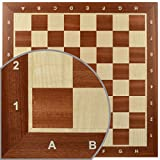 Continental Chess NR 6 Board with Notation, Mahogany