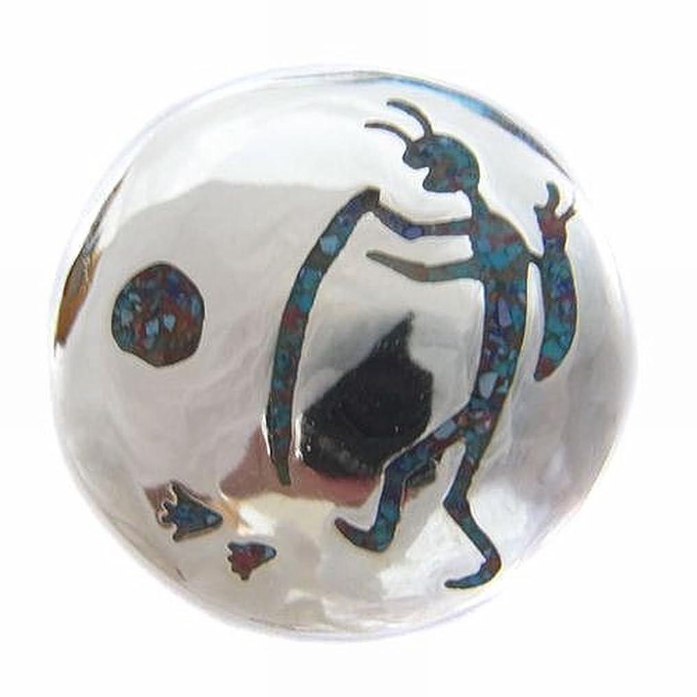 魔女説教侮辱ココペリ キリギリスの精霊 A柄 天然石 コンチョCONCHO ブラス製シルバーコーティング