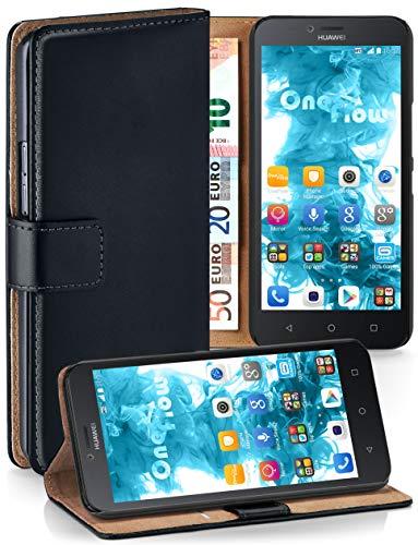 MoEx Cover a Libretto Compatibile con Huawei Y625 | Fessura Carta + Soldi, Supporto, Nero