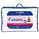 Bleu Cuddle Duvet 4 Seasons 1 Person, 3 edredones en 1, Antiácaros, Antibacteriano, Blanco, 140x200 cm, KT