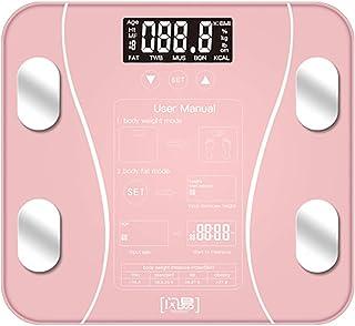 体重計、脂肪、筋肉、BMI、骨量、カロリー、ブラック用バックライト付きLCD付き体重計、デジタル体重計、体組成計,B