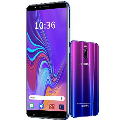 DUODUOGO Smartphone J6 (2020) 4G, 5.5  FHD+ Display, 3400mAh Batteria Cellulari Offerte, 128GB Espandibili Cellulare, Android 9.0 Quad-Core, 8MP+5MP, 16GB ROM, Dual SIM Telefoni Cellulari, Violet