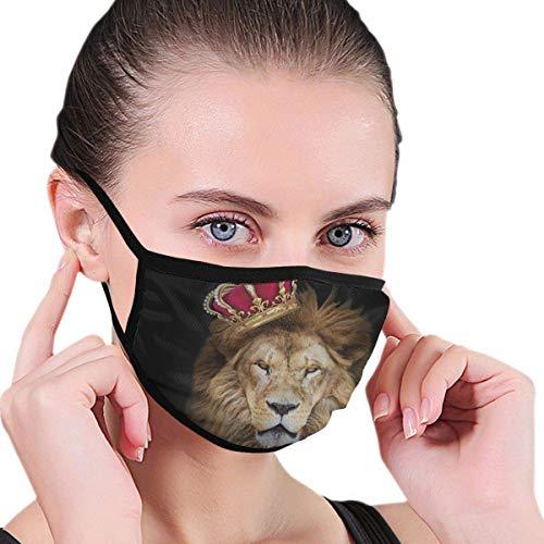 Lion with Crown Men 's Vrouwen Graphics Media Face wasbaar, herbruikbaar, voor reizen