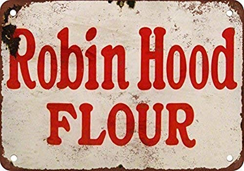 WEIMEILD New Tin Sign Robin Hood Flour Vintage Look Reproduction Aluminum Metal Sign 8x12 INCH (M4030)
