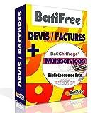 Pack BatiFree Devis/Factures + Bibliothèque BatiChiffrage Multi Services 2020 - Livraison par email clef pour téléchargement