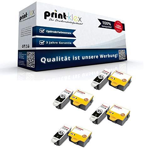 Print Klex 8X Kompatible Tintenpatronen kompatibel fur Kodak ESP 5220 ESP 5230 ESP 5250 ESP 7 ESP 7250 ESP 9 ESP 9250 ESP Office 6150 8955916 NO 10 8955916 NO10 BK C M Y Office Print Serie