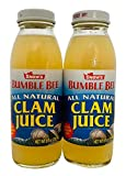 SNOW'S BY BUMBLE BEE All Natural Clam Juice, 8 Ounce Bottle (Pack of 2), Pure Bottled Clam Juice