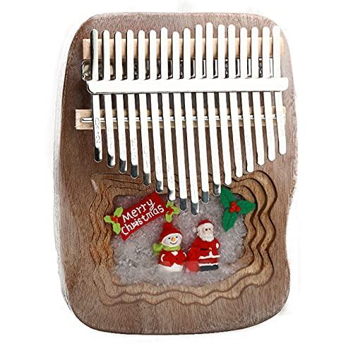 ATRNA 17 Teclas Kalimba, Thumb Piano Marimba con Tuning Hammer Instrumento Musical Regalos para Niños Adultos Principiantes Profesionales Marrón