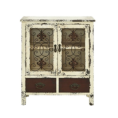 Powell Furniture 990-332 Parcel 2-Door 2-Drawer Console, White 30' L x 13.75' W x 25.5' H