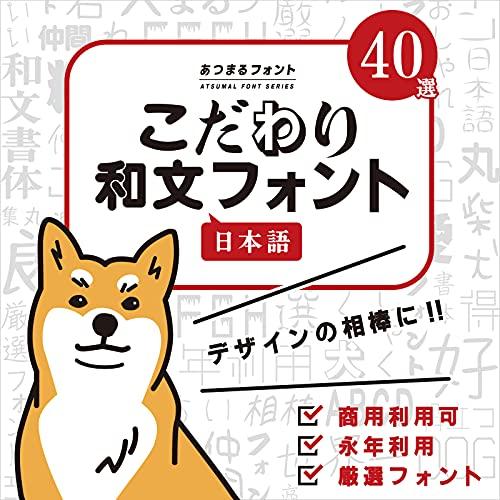 日本語フォント 40種類 永年利用 こだわり和文フォント40 ダウンロード版