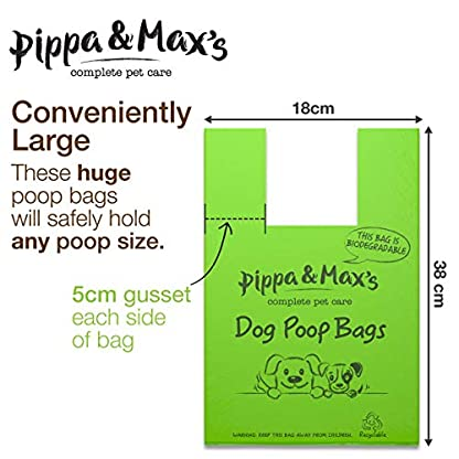 Pippa & Max Dog Poo Bags Biodegradable (300) - Extra Strong Eco Doggy Walking Poop Bags 7