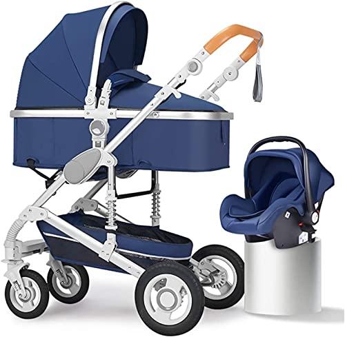 Cochecito de bebé Portátil y cochecito liviano Carro de bebé 2 en 1, luz plegable y fácil de transportar, sentarse y mentir Lightwight Prams, adecuado para camiones recién nacidos viajeros