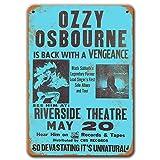 Ozzy Osbourne Poster, Vintage-Metall-Wandkunst, 1981, Ozzy