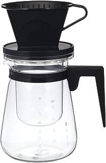 iwaki(イワキ) 耐熱ガラス リラッサ・アイスコーヒー ブラック 1000ml ドリッパー ポット K8966CS-BK