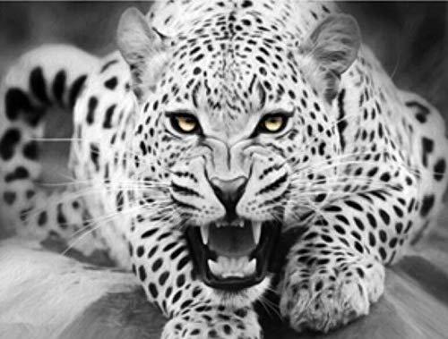 Puzzle 1000 pezzi Animale ghepardo bianco e nero puzzle 1000 pezzi animali Great Holiday Leisure , Giochi interattivi per famiglie50x75cm(20x30inch)