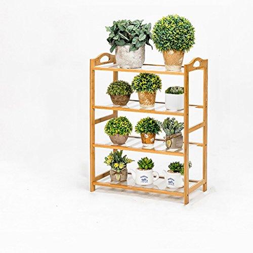 MLHJ NNIU- Multifonctionnel Balcon Fleur Racks Solide Bois Salon Pots De Fleurs Simple Multi-étages Étagère De Fleur (Taille : 50 * 26 * 70cm)