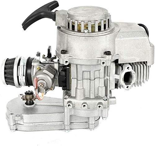 49CC 2-Takt Pocket Bike Getriebe Vergaser Set Motor Aluminum Minimotor Motor mit Vergaser Getriebe für Pocket Bike Mini Dirt Bike ATV Roller