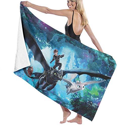Toalla de baño FERNMXZ, Cómo entrenar a tu dragón, 3 toallas de baño súper absorbentes para gimnasio, playa, spa SWM