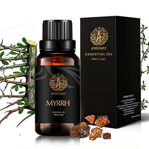 Mirra Aceite esencial para difusor, 100% puro aceite esencial mirra para humidificador, 30ml mirra aceite esencial aroma, grado terapéutico mirra aceite perfumado, 1oz mirra aceite para masaje hogar